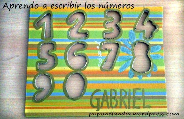 Para aprender a escribir los numeros, infancia