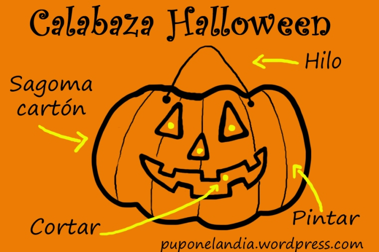 tutorial calabaza halloween cartón
