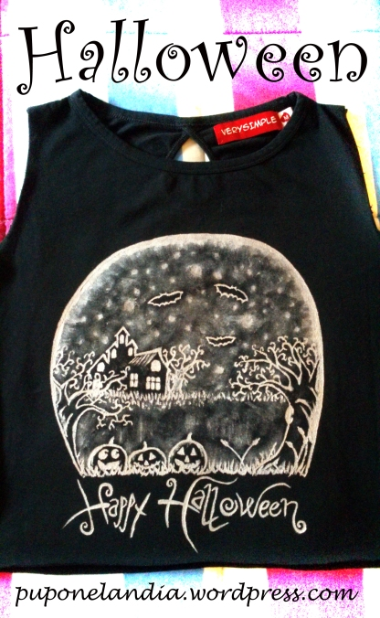 Camiseta Halloween, bosque - puponelandia.wordpress.com
