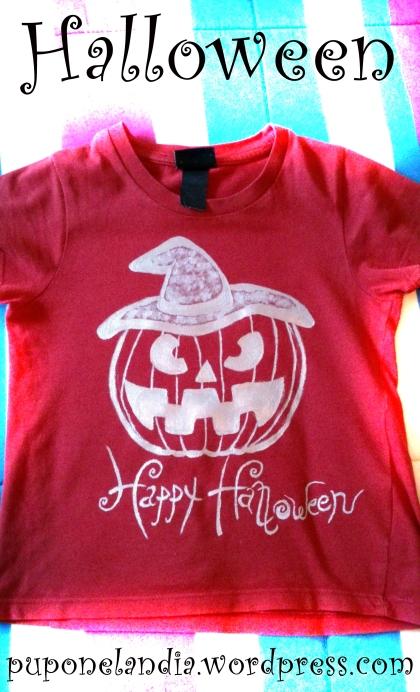 Camiseta Halloween niño, calabaza - puponelandia.wordpress.com