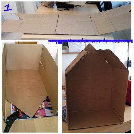 Como se hace la casa en carton imagui - Como hacer una casa de carton pequena ...
