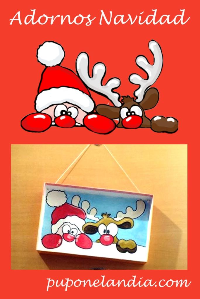 adornos puerta Navidad - puponelandia.com