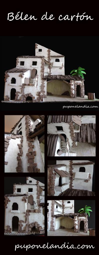 Bélen de cartón hecho a mano - puponelandia.com