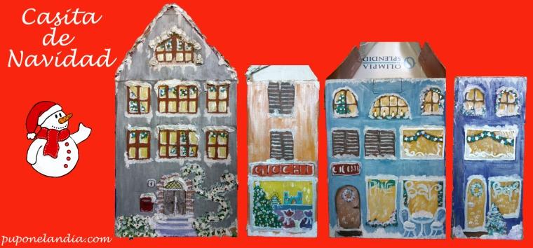 Casita de Navidad, 4 fachadas