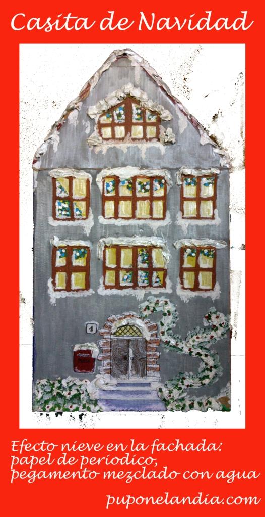 Casita de Navidad con caja de cartón