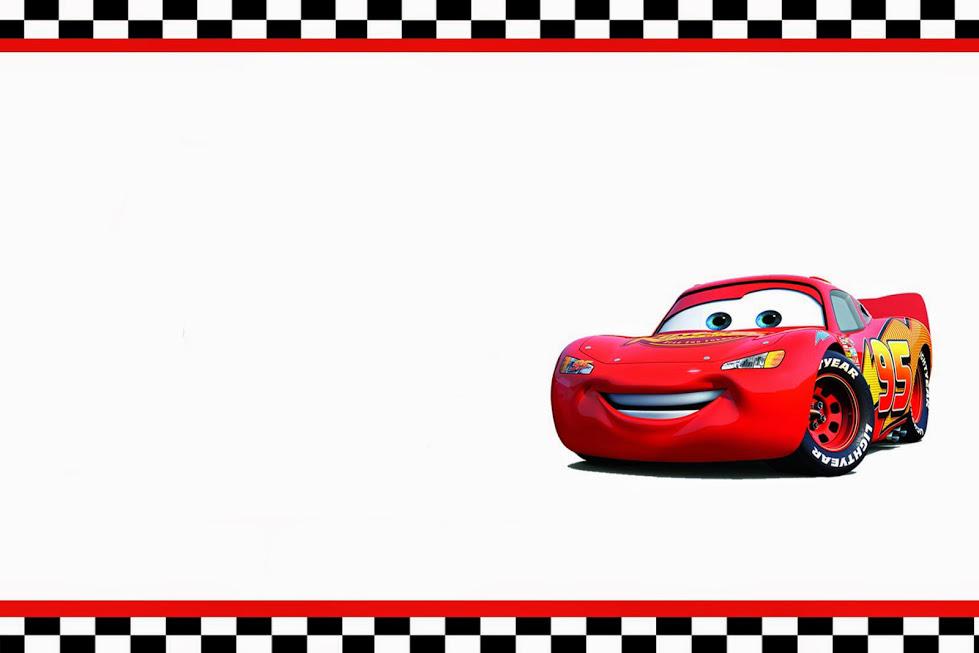 Plantilla Para Una Tarjeta De Cumpleaños Con Tema Cars