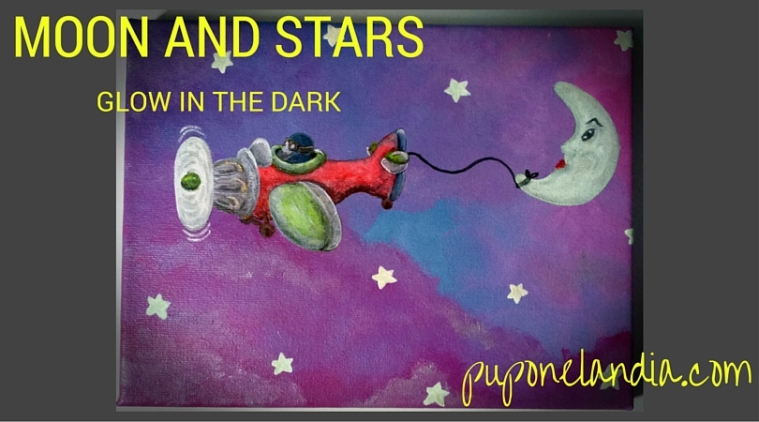 Moon and stars - Glow in the dark - puponelandia.com