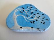 azulejo azul con arbol blanco - puponelandia.com